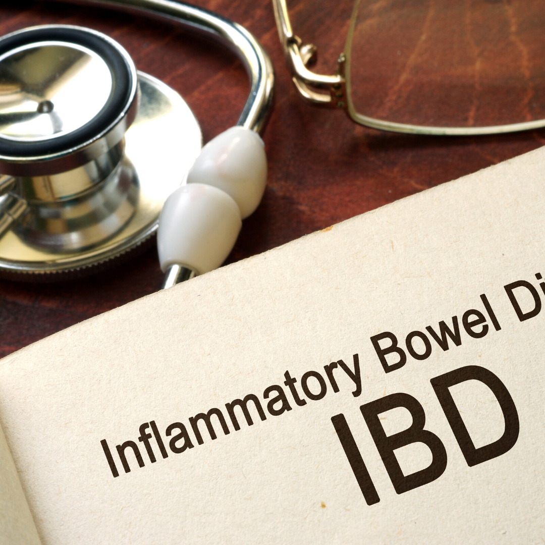 """Medical imagery next to a note saying """"IBD"""""""