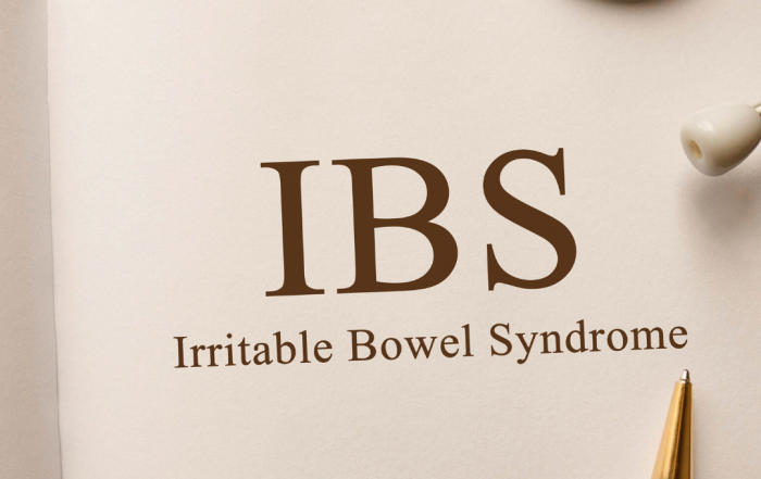 "Medical imagery next to note saying ""IBS"""