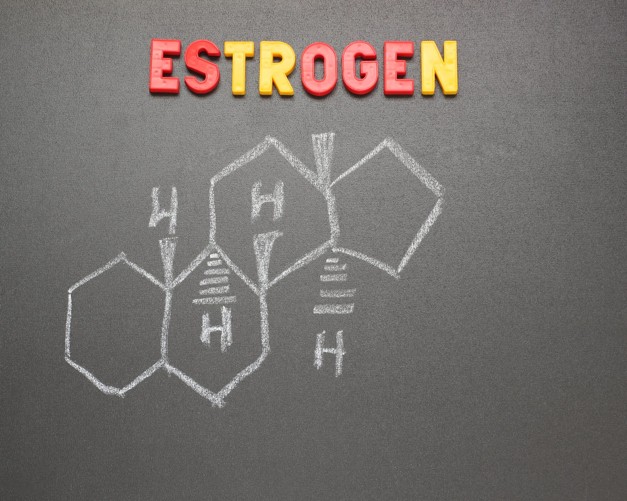 Image showing the chemical structure of estrogen